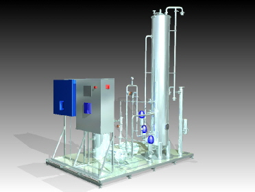 ozone disinfection demineralised water