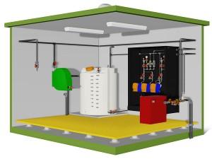 Building Mount Fluoride Dosing System