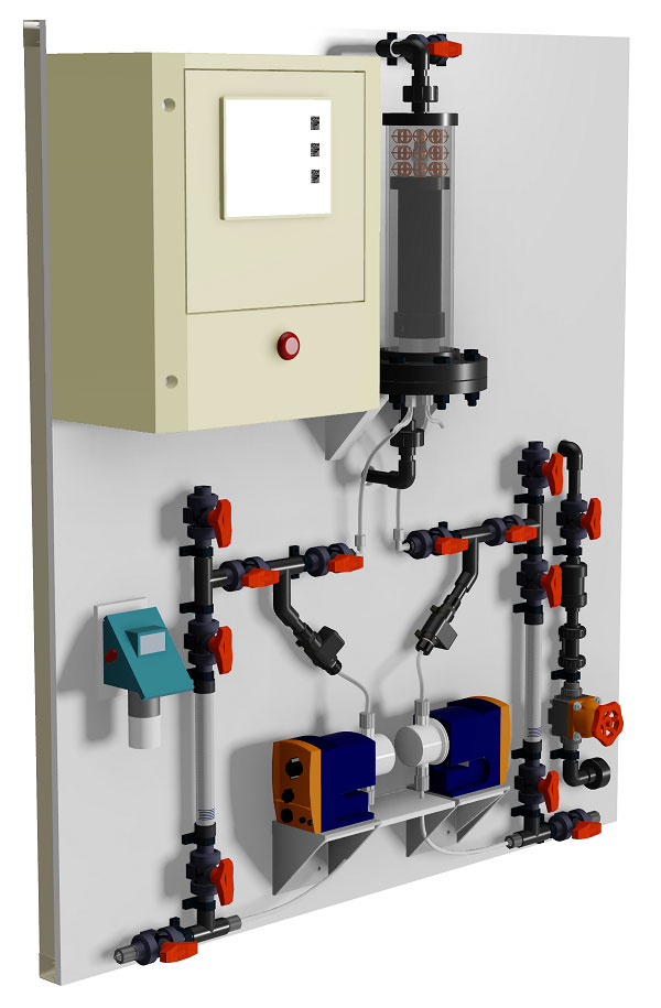 2-chemical chlorine dioxide acid chlorite generator model CD
