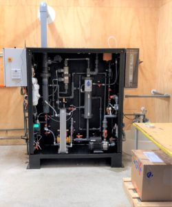 Electricide electrochemical chlorine generator - HDPE cabinet mount with splash shield
